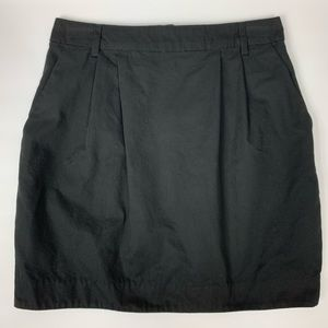 H&M black khaki mini skirt with pockets